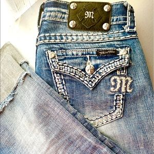 Miss Me Easy Cropped Bling Jean♥️So Cute